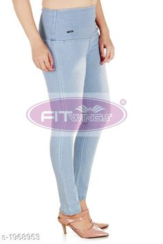 Checkout this latest Jeggings Product Name: * Denim Womens Jeans* Sizes:  28, 30, 32, 34, 36, 38, 40 Country of Origin: India Easy Returns Available In Case Of Any Issue   Catalog Rating: ★4.1 (1323)  Catalog Name: Fashionista Denim Womens Jeans Vol 3 CatalogID_260024 C79-SC1032 Code: 435-1968953-4041