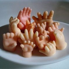 """Hand Soap"" love it!  I like the fact that they would be waving to me...creepy, but fun. $16.00"