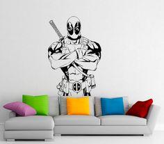 Deadpool Wall Decal Comics Antihero Vinyl Sticker by BestDecalsUSA