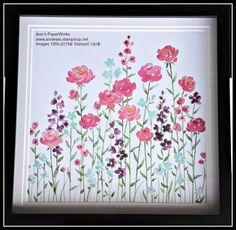 Painted Blossoms Designer Series Paper - Stampin' Up! from the new 2015 Occasions Catalogue - handpainted designs, so gorgeous I have framed the paper in a 12 x 12 frame to hang on the wall.