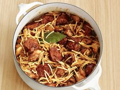 Spanish-Style Noodles with Chicken and Sausage Recipe : Food Network Kitchen : Food Network - FoodNetwork.com