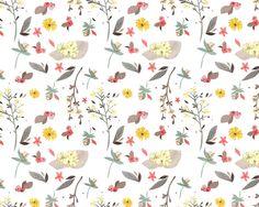 Repeat Patterns - Emma Block Illustration, background, flowers, cute, art
