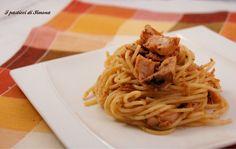 Spaghetti con tonno rosso