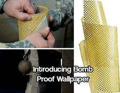 Bomb-Proof Wallpaper Built for Serious Home Security - I think this product is absolutely wonderful and should be standard in every new home build! If this wallpaper can protect a house from a bomb going off then surely this would help people who live in tornado paths and earthquake zones get out before the house is flattened.