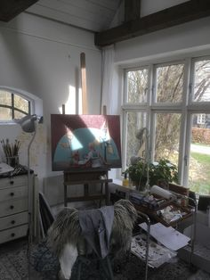 This is Janna Espenhains little atelier in Hillerød Windows, Drawings, Artwork, Atelier, Work Of Art, Auguste Rodin Artwork, Drawing, Portrait, Window