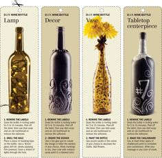 Wine bottle ideas: I need something to do with all my empties ;)