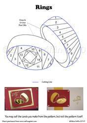 iris fold wedding bands