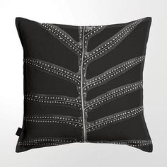 Scatter Cushion (DBL sided print ) - Fern Scatter Cushions, Throw Pillows, Printed Linen, Ferns, Feather, Cotton, Toss Pillows, Quill, Decorative Pillows