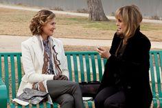Brenda Strong as Ann Ewing and Linda Gray as Sue Ellen Ewing on Dallas