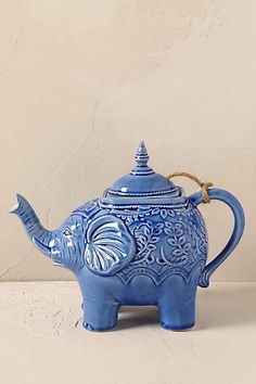 Anthropologie EU Losin Teapot. This portly fellow is inspired by our buyers' journey to Vietnam, where they spotted tusked beauties roaming the verdant landscape.