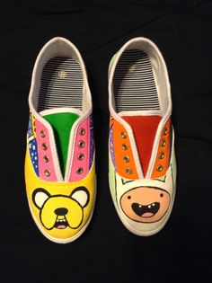 829081a39f4ff8 Custom Shoes Adventure Time by PrettyOddArt on Etsy