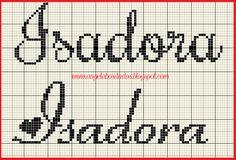 Ângela Bordados: nomes com I Cross Stitch Alphabet, Embroidery, Youtube, Baby, Tiny Cross Stitch, Mini Cross Stitch, Cross Stitch Love, Proper Nouns, Letter I