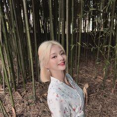 K Pop, Korean Girl Groups, South Korean Girls, Loona Kim Lip, Stupid Girl, Digital Art Anime, Anime Art, Blonde Hair Looks, Short Blonde
