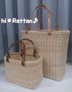籐カゴ(ё_ё)hi*Rattan♪:RTさん親子トートバック
