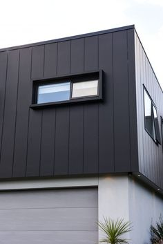 An affordable, architecturally designed home stands out from the crowd with James Hardie Stria Cladding External Wall Cladding, Zinc Cladding, Cladding Design, House Cladding, House Siding, Facade Design, Facade House, Exterior Design, Cladding Ideas