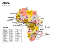 africa map for powerpoint editable ppt map of africa countries of africa map african country map editable powerpoint maps