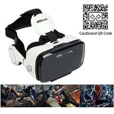 Virtual Reality VR Brille - Inspired by Google Cardboard - Bikonvexe Linsen nach Originalspezifikation - Langes Kopfband, Nasenpolster - Virtuelle Realität für Android und iPhone Smartphone