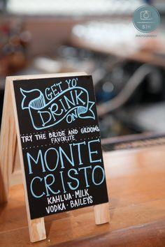 Signature cocktail sign #details #wedding #weddingphotography Hotel Lafayette, Buffalo NY www.shweddingphotos.com