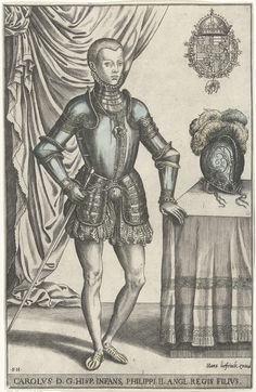 Portrait of Don Carlos, Prince of Asturias, by Frans Huys and Hans Liefrinck (I), 1546 - 1562.