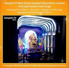 Vivek Pange Home Ganpati 2015 Decoration Pictures, Decorating With Pictures, Ganpati Picture, Ganpati Festival, Festival Decorations, Picture Video, Tv, Movie Posters, Television Set