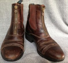 Ariat Devon Pro Paddock Ladies Riding Boots Brown Leather Ankle Zip Size 7 $56.99