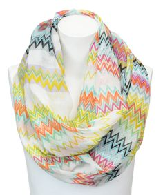 Look what I found on #zulily! Leto Collection Lime Chevron Infinity Scarf by Leto Collection #zulilyfinds
