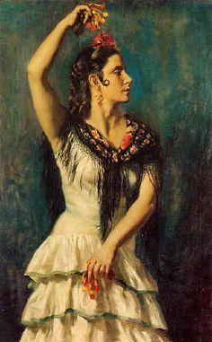 Castanuelas by George Owen Wynne Apperley. Lovely oil painting.