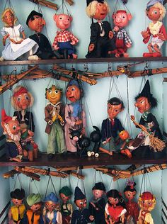 """The Puppet Case"" at the artist Clive Hicks-Jenkins' home Ty Isaf, near Aberystwyth in Wales. The case houses the artist's collection of Pelham Puppets. Photo Dave Bonita"