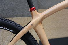 Absolutely beautiful #bike shot. Someone has gone to a lot of trouble to hand make a wooden bike.