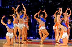 NBA dancers. New York Knicks City Dancers perform during the game against the New Orleans Pelicans - Anthony Gruppuso/USA TODAY Sports