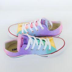 Pastel Rainbow Tie Dye Low Top Converse