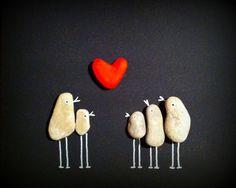 Familienbild mit Herz