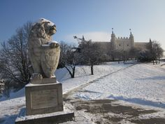 Lublin Castle in the snow