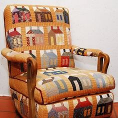 Quilt chair found on Sweet Home Quilt Co. facebook page