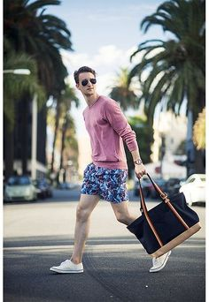 Pink Plain Tshirt styled with Printed Shorts and a pair of White Converse which much gives a holiday and a summer look