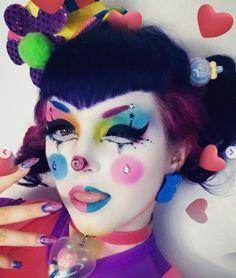 Goth Makeup, Clown Makeup, Makeup Inspo, Makeup Art, Halloween Makeup, Makeup Inspiration, Eye Makeup, Cosplay Makeup, Costume Makeup