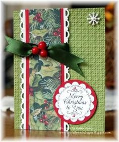 """Beautiful """"Merry Christmas To You"""" Card...Christmas One Sheet Wonder 8x8 by rosekathleenr, Kathy Roney: Joyfully Made Designs - Cards and Paper Crafts at Splitcoaststampers. by lorie"""