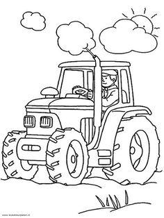 kleurplaat tractor - Google zoeken
