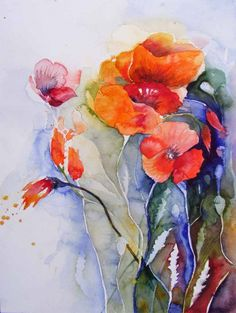Colors of summer (c) watercolor by Frank Koebsch, 30 x 40 cm, sold