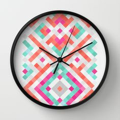 """""""PATH"""" Wall Clock by Sorbetedelimon on Society6."""