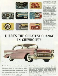 Magazine ad for the Chevrolet Bel-Air. Magazine ad for the Chevrolet Bel-Air. Bel Air Car, 1957 Chevy Bel Air, Chevrolet Bel Air, Vintage Advertisements, Vintage Ads, Best Classic Cars, Car Advertising, Us Cars, Old Ads