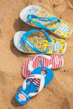 "havaianas ""where's wally?"" flip-flops"