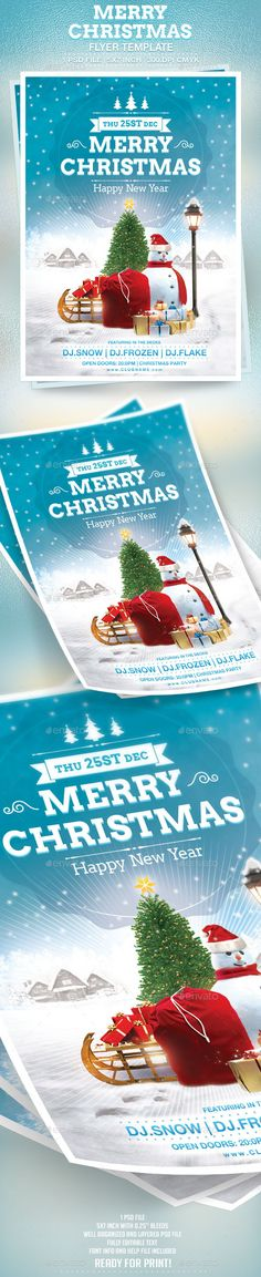 "advertisement, bash, celebration, christmas, club, dance, disco, event, flake, flyer, fresh, frozen, holiday, merry christmas, modern, music, new years eve, party, poster, psd, sound, template, winter, xmas, print-templates, flyers Merry Christmas Flyer Template 1 PSD file, 5×7 inch with 0.25"" bleeds 