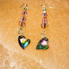 Two #hearts together as one. #earrings #fancystones #crystals #swarovski #photography #beauty #fashion #accessories