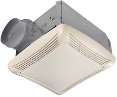 NuTone 763 50 CFM Sone Ceiling Mounted HVI Certified Bath Fan with Incandesc White Fans Exhaust Fan Combination