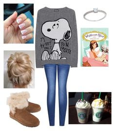 """""""Just chillin"""" by taylorharder ❤ liked on Polyvore featuring 2LUV, Princess Goes Hollywood, UGG, Keurig and Eternally Haute"""