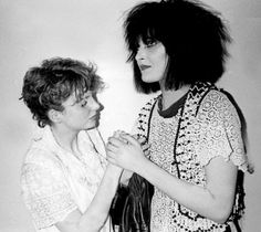 Siouxsie with Clare Grogan of Altered Images