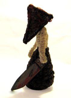 Pyramid Head Amigurumi  By Sheila D. Tillery.....Find On Me Facebook! https://www.facebook.com/pages/Sheila-D-Tillery-The-Damsel-In-Decease/149343631787233