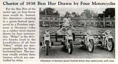 Some of motorcycle chariot riders were pretty daring.