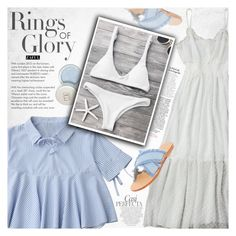 """""""Summer night"""" by vanjazivadinovic ❤ liked on Polyvore featuring Whiteley, Mystique, Tiffany & Co., polyvoreeditorial, zaful and dreamydresses"""